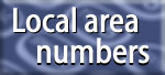 local area numbers - be somewhere else, be in many places but have just one office